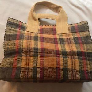 Madras beach bag